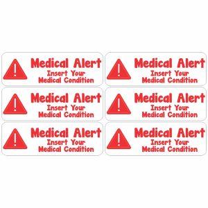 Personalised Medical Alert Labels