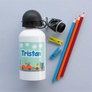 Personalised Water Bottle 400ml Transport